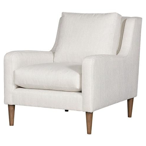Vanguard Josie Modern Classic White Upholstered Arm Chair In Inside Leppert Armchairs (View 3 of 20)