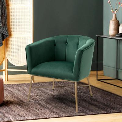 Velvet – Accent Chairs – Chairs – The Home Depot Intended For Easterling Velvet Slipper Chairs (View 12 of 20)