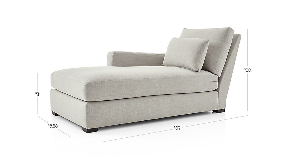 Verano Ii Right Arm Chaise + Reviews | Crate And Barrel Within Danny Barrel Chairs (set Of 2) (View 9 of 20)