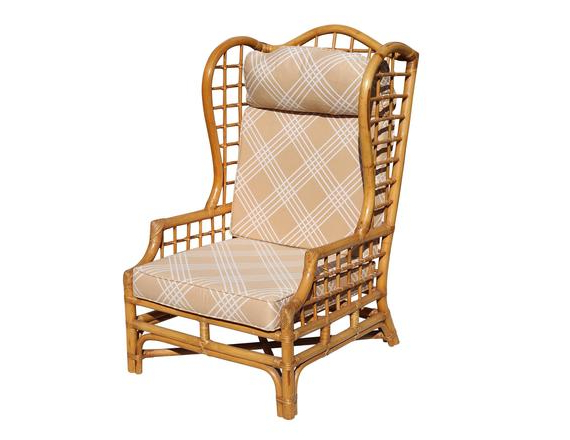 Vintage Rattan Wingback Chair With Busti Wingback Chairs (View 15 of 20)