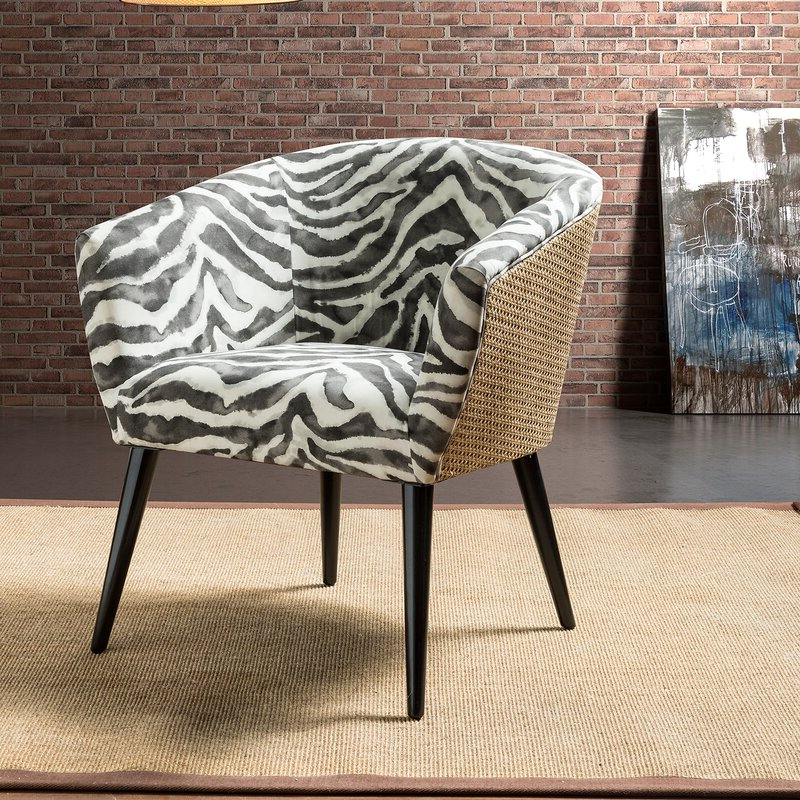 Vivere Barrel Chair With Regard To Briseno Barrel Chairs (View 5 of 20)