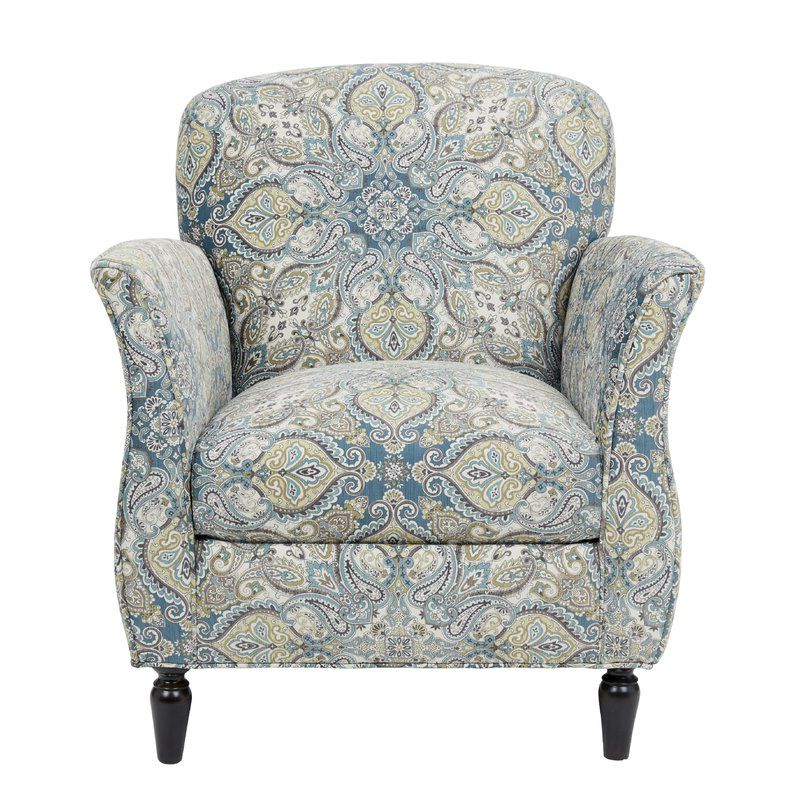 Wainfleet Accent Armchair   Blue Accent Chairs, Armchair For Artemi Barrel Chair And Ottoman Sets (View 13 of 20)