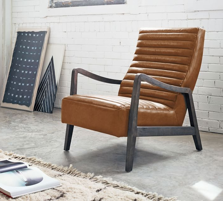 Walker Leather Armchair In 2020 | Leather Armchair Pertaining To Nadene Armchairs (View 7 of 20)