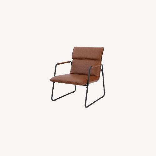 Wayfair Cognac Faux Leather – Solid Wood – Aptdeco With Regard To Jarin Faux Leather Armchairs (View 15 of 20)