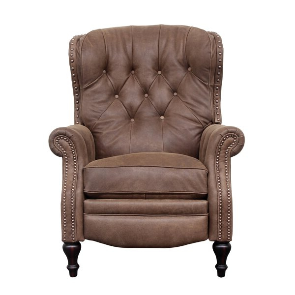 Wing Back Recliner Chairs Within Coomer Faux Leather Barrel Chairs (View 12 of 20)