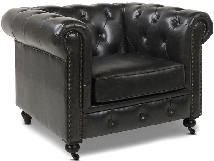 Winston Leather Chesterfield Armchair With Regard To Kjellfrid Chesterfield Chairs (View 12 of 20)