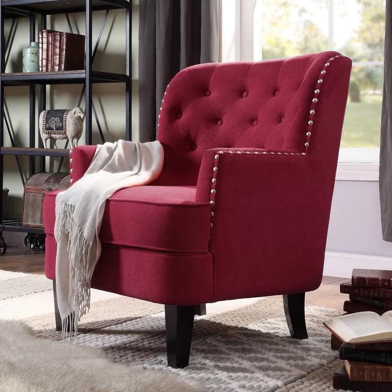 Winston Porter Lenaghan Wingback Chair & Reviews | Wayfair Within Lenaghan Wingback Chairs (View 4 of 20)