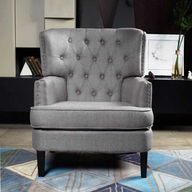 Winston Porter Lenaghan Wingback Chair Upholstery – Vozeli Within Lenaghan Wingback Chairs (View 18 of 20)