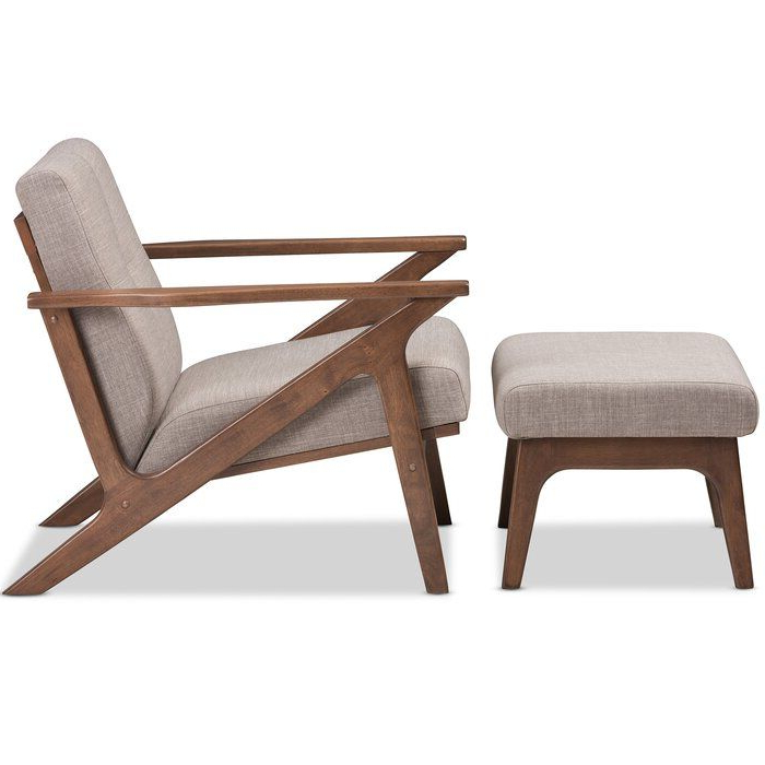Wojtala Armchair And Ottoman In 2020 | Chair And Ottoman Set Throughout Modern Armchairs And Ottoman (View 5 of 20)