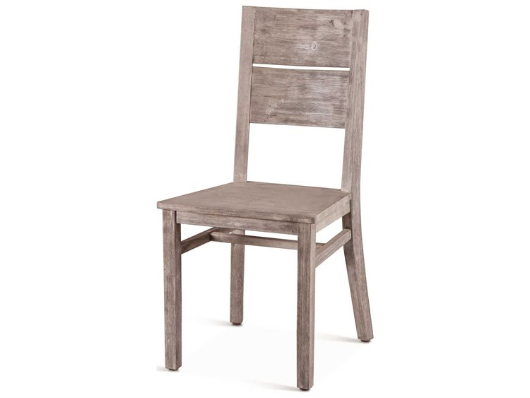 World Interiors Beachwood Weathered Graywash Side Dining Chair (set Of 2) Throughout Beachwood Arm Chairs (View 13 of 20)
