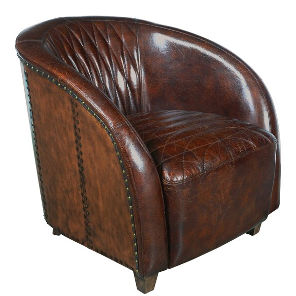 Woven Leather Chair In Ansar Faux Leather Barrel Chairs (View 8 of 20)