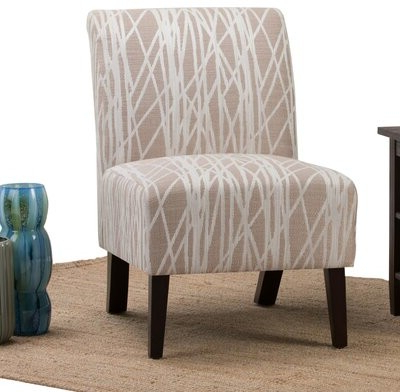 Wrought Studiotm Midhurst Slipper Chair Wrought Studio Fabric: Beige / White Polyester Blend Throughout Alush Accent Slipper Chairs (set Of 2) (View 10 of 20)
