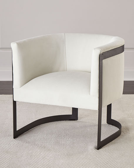 Zalina Leather Accent Chair Regarding Zalina Swivel Armchairs (View 7 of 20)
