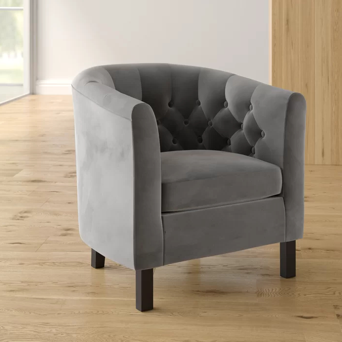 Ziaa Barrel Chair   Barrel Chair, Furniture, Chair And Ottoman Pertaining To Ziaa Barrel Chairs (View 3 of 20)