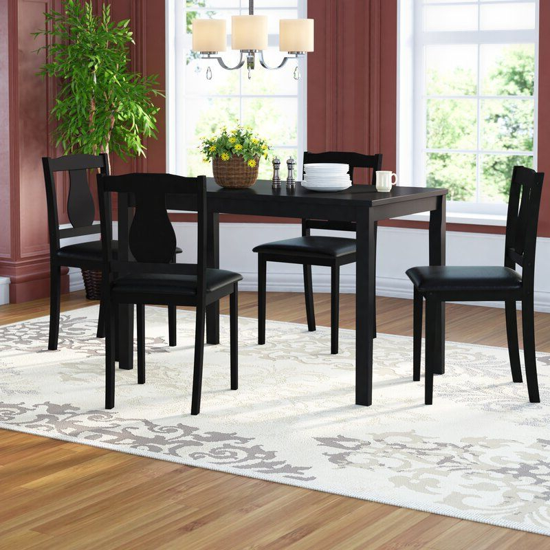 Zipcode Design Daleyza 5 Piece Dining Set & Reviews Pertaining To Daleyza Slipper Chairs (View 10 of 20)