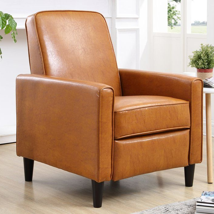 Zipcode Design Dracut Manual Recliner & Reviews | Wayfair In Marisa Faux Leather Wingback Chairs (View 17 of 20)