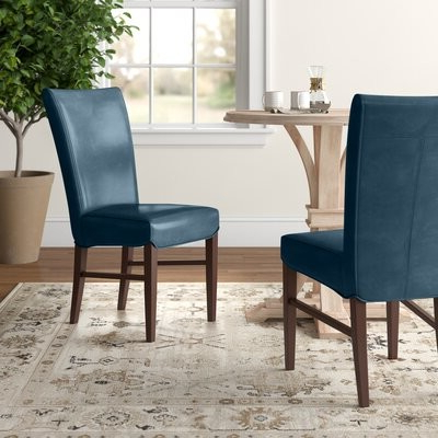 Zyaire Upholstered Dining Chair Upholstery Color: Vintage Blue With Bob Stripe Upholstered Dining Chairs (set Of 2) (View 9 of 20)