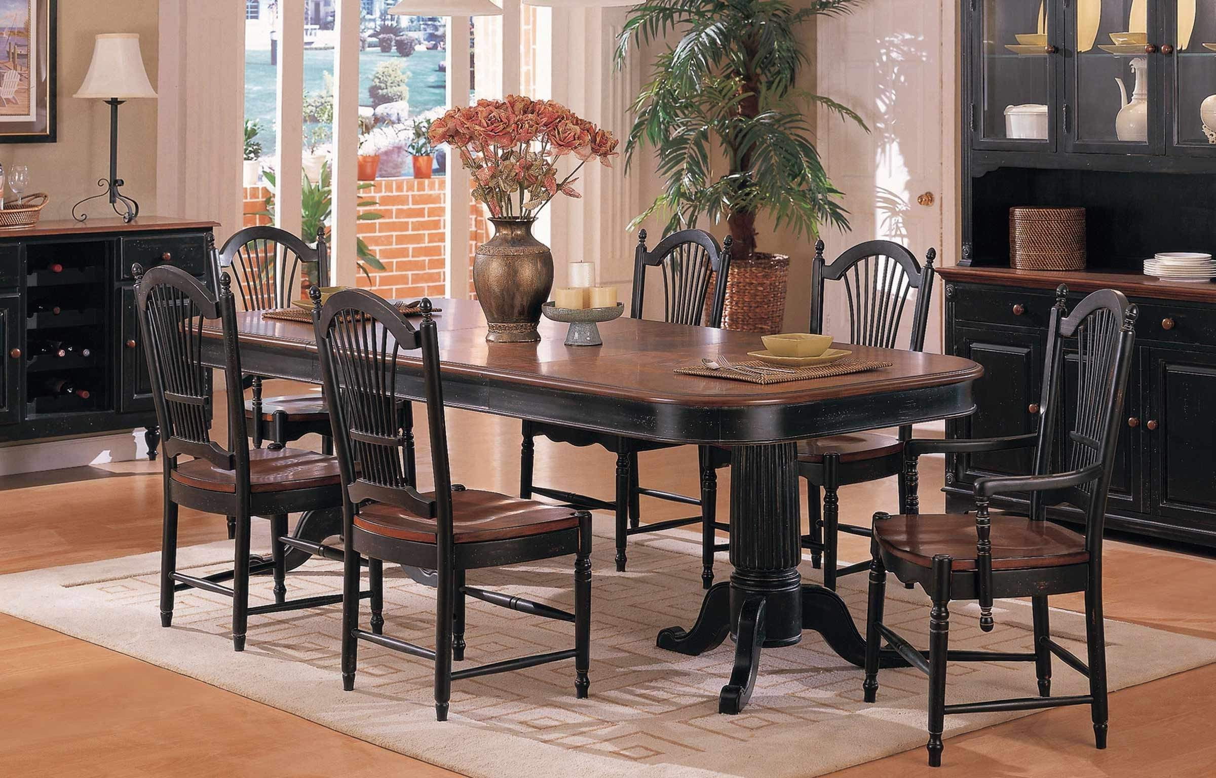 """2019 Exeter 48'' Pedestal Dining Tables With Regard To 96"""" Double Pedestal Table At Furniture Mall Of Kansas (View 19 of 20)"""