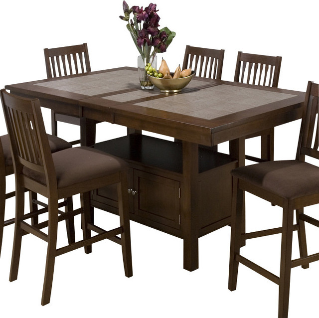2019 Jofran – Jofran 976 Caleb Brown Tile Top Counter Height Throughout Dallin Bar Height Dining Tables (View 15 of 20)
