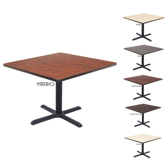 """2020 Shop Regency Lunchroom 42 Inch Square Table – Free For Dionara 56"""" L Breakroom Tables (View 8 of 20)"""