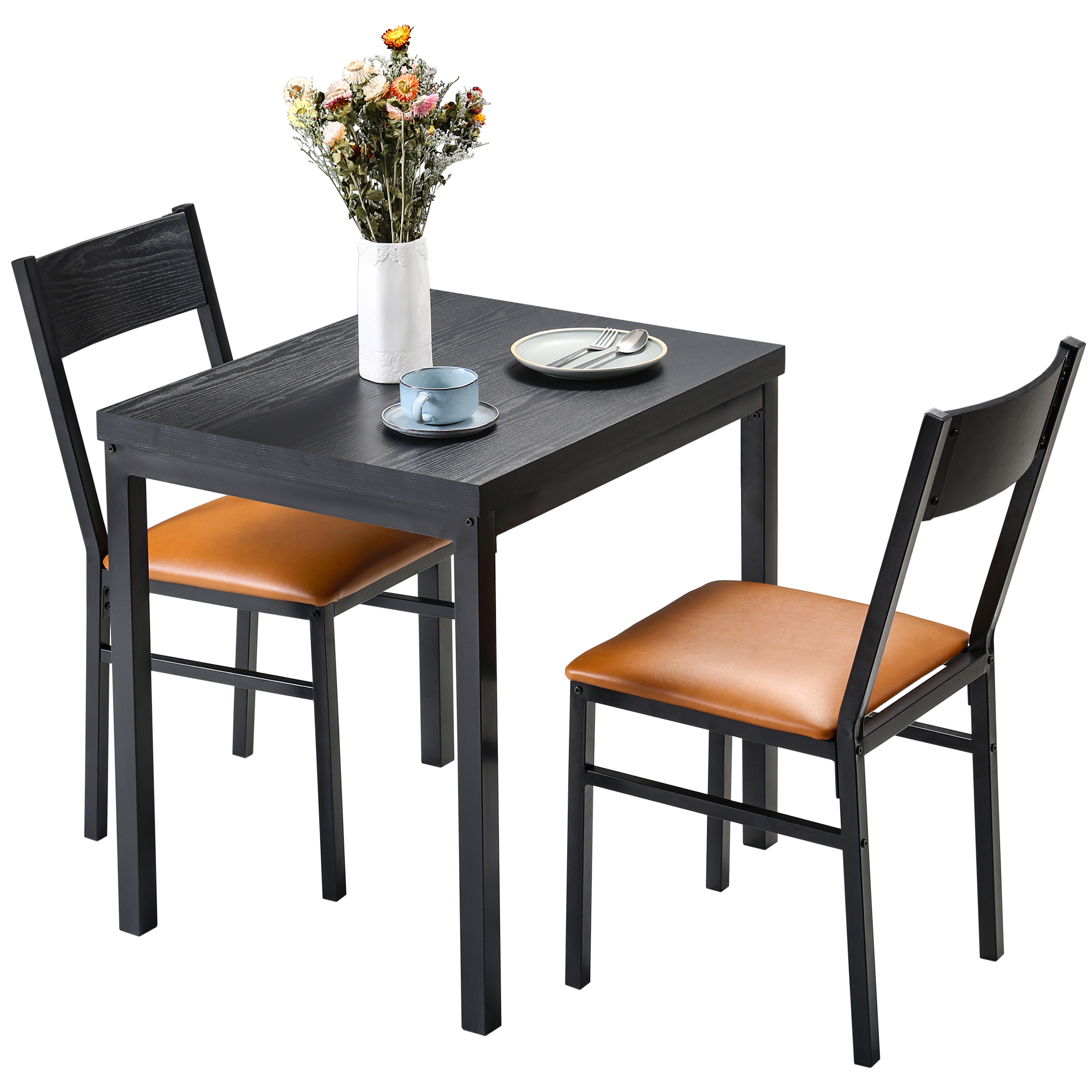 3 Piece Dining Table Set With Cushioned Chairs For Dining In 2019 Tudor City 28'' Dining Tables (View 11 of 20)