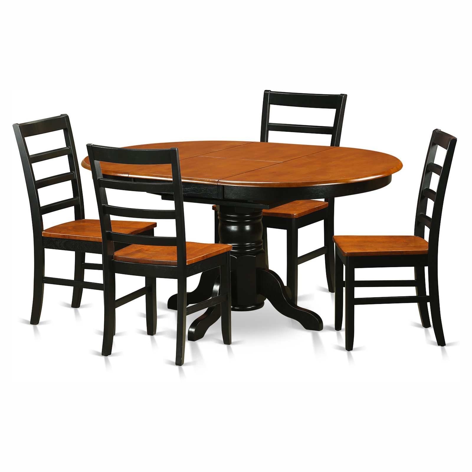 Avon 5 Piece Pedestal Oval Dining Table Set With Parfait With Regard To Best And Newest Servin 43'' Pedestal Dining Tables (View 4 of 20)