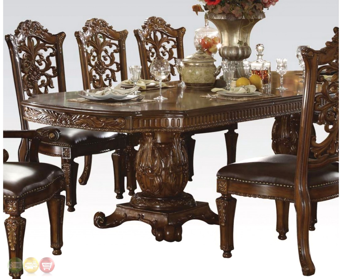 """Best And Newest Villani Pedestal Dining Tables Pertaining To Vendome Traditional Formal Double Pedestal 85"""" 121"""" Dining (View 8 of 20)"""