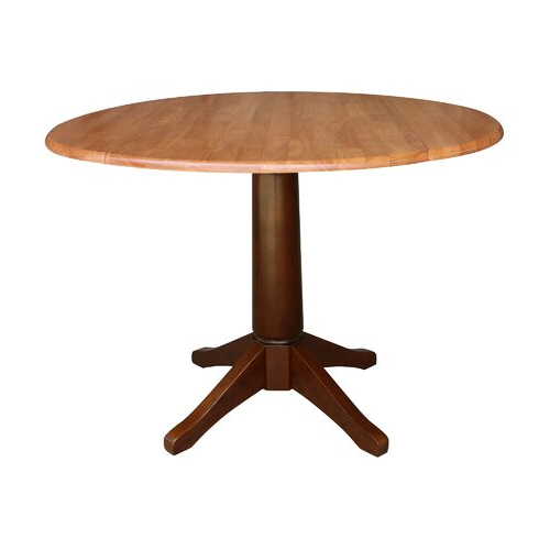 Boothby Drop Leaf Rubberwood Solid Wood Pedestal Dining Tables With Fashionable Canora Grey Angelia Extendable Drop Leaf Rubberwood Solid (View 5 of 20)