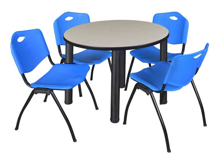 Buy Cheap 36 Round Breakroom Table Maple/ Black & 4 M In Most Up To Date Round Breakroom Tables And Chair Set (View 19 of 20)