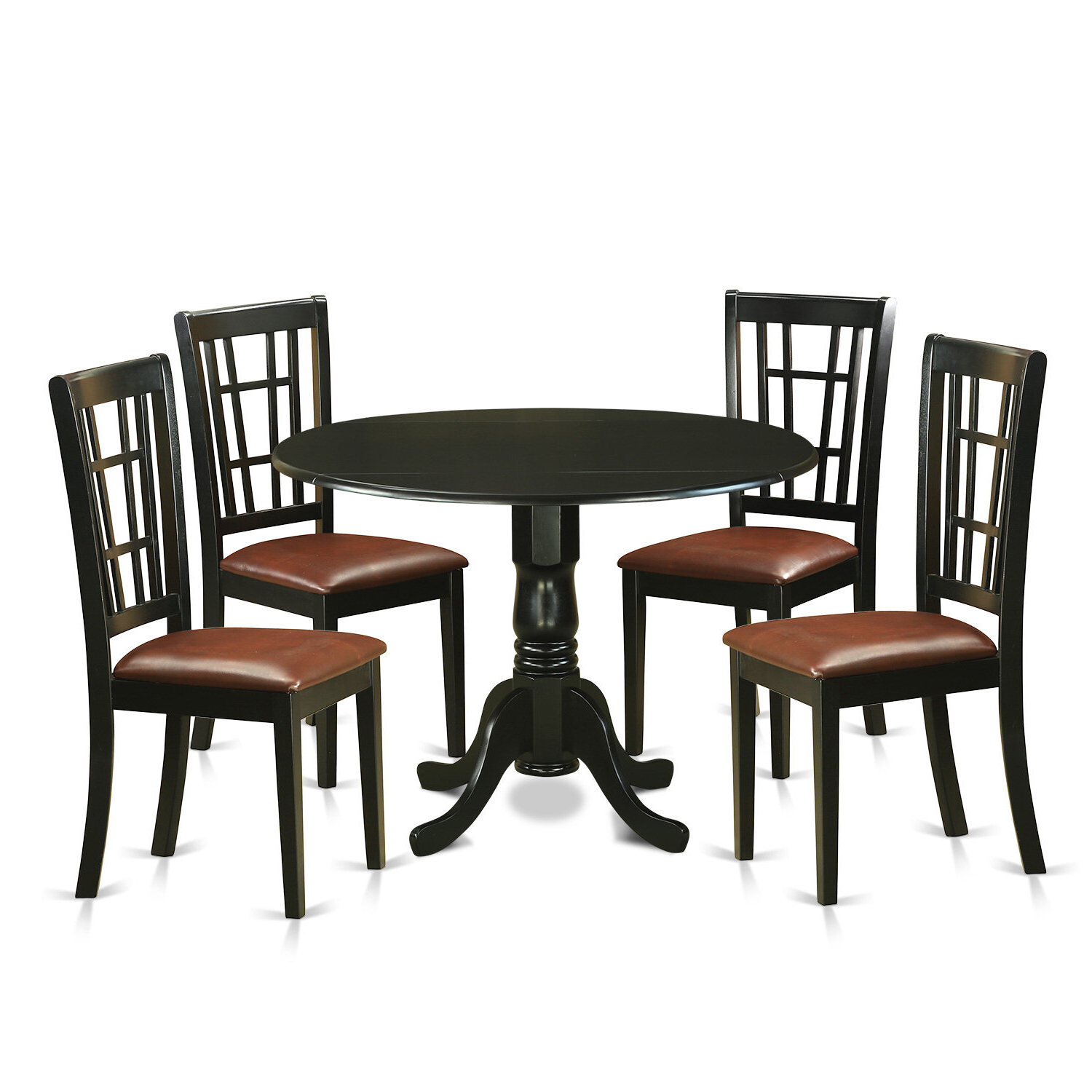 Charlton Home Gloucester 5 Piece Extendable Dining Set Inside Current Boothby Drop Leaf Rubberwood Solid Wood Pedestal Dining Tables (View 17 of 20)