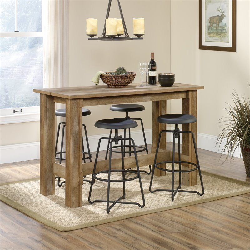 Counter Height Dining Table In Craftsman Oak – 416698 Inside Recent Dallin Bar Height Dining Tables (View 3 of 20)