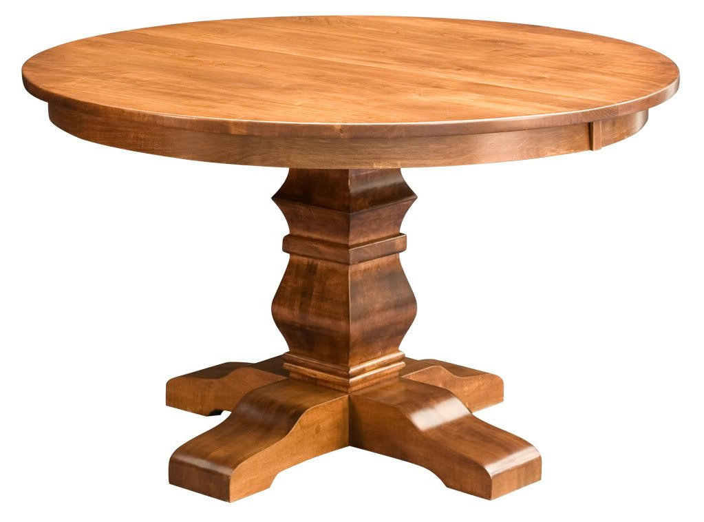 Current Exeter 48'' Pedestal Dining Tables In Amish Round Pedestal Dining Table Solid Wood Rustic (View 4 of 20)