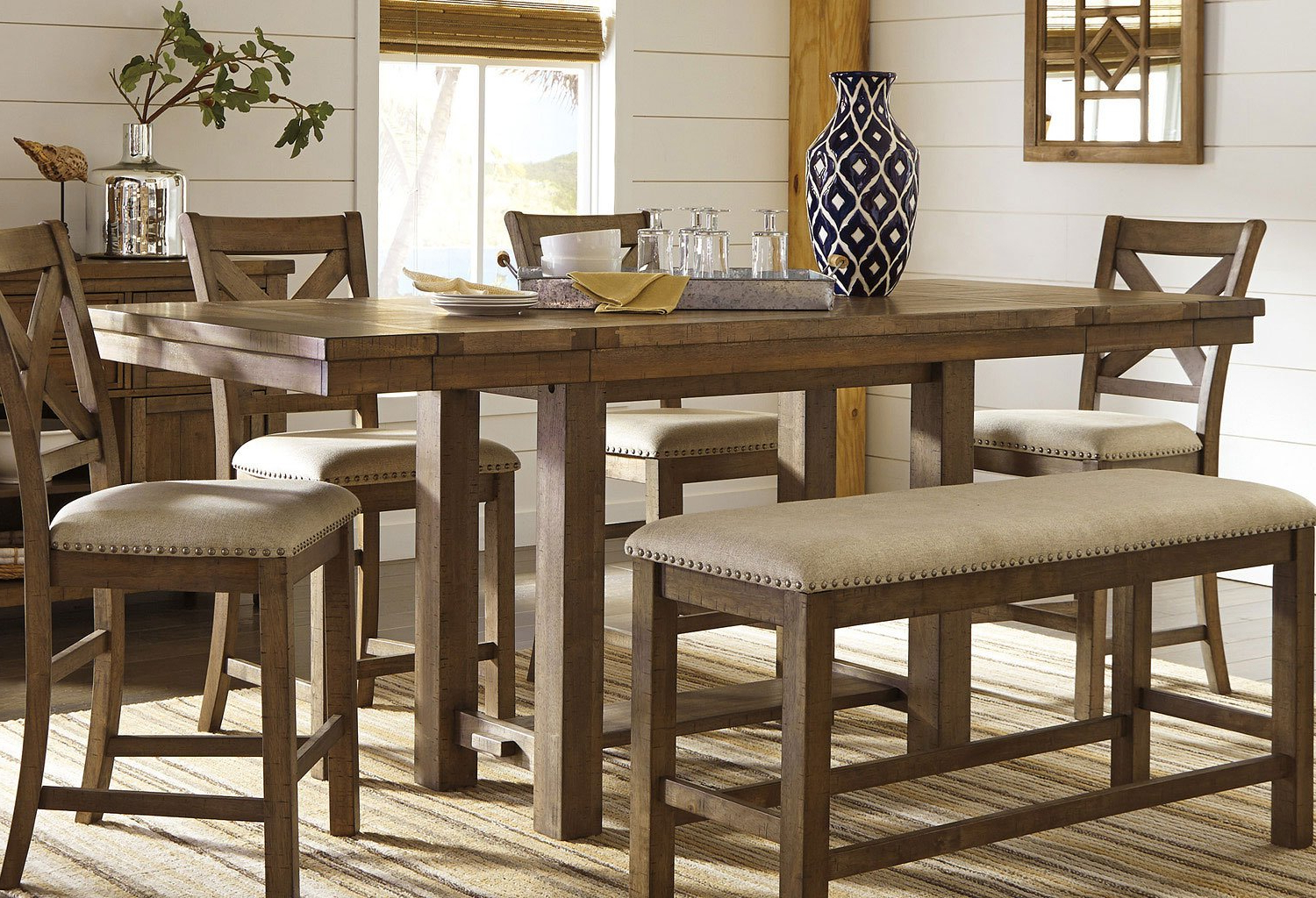 Dallin Bar Height Dining Tables For Most Recent Moriville Counter Height Dining Table Signature Design, (View 8 of 20)