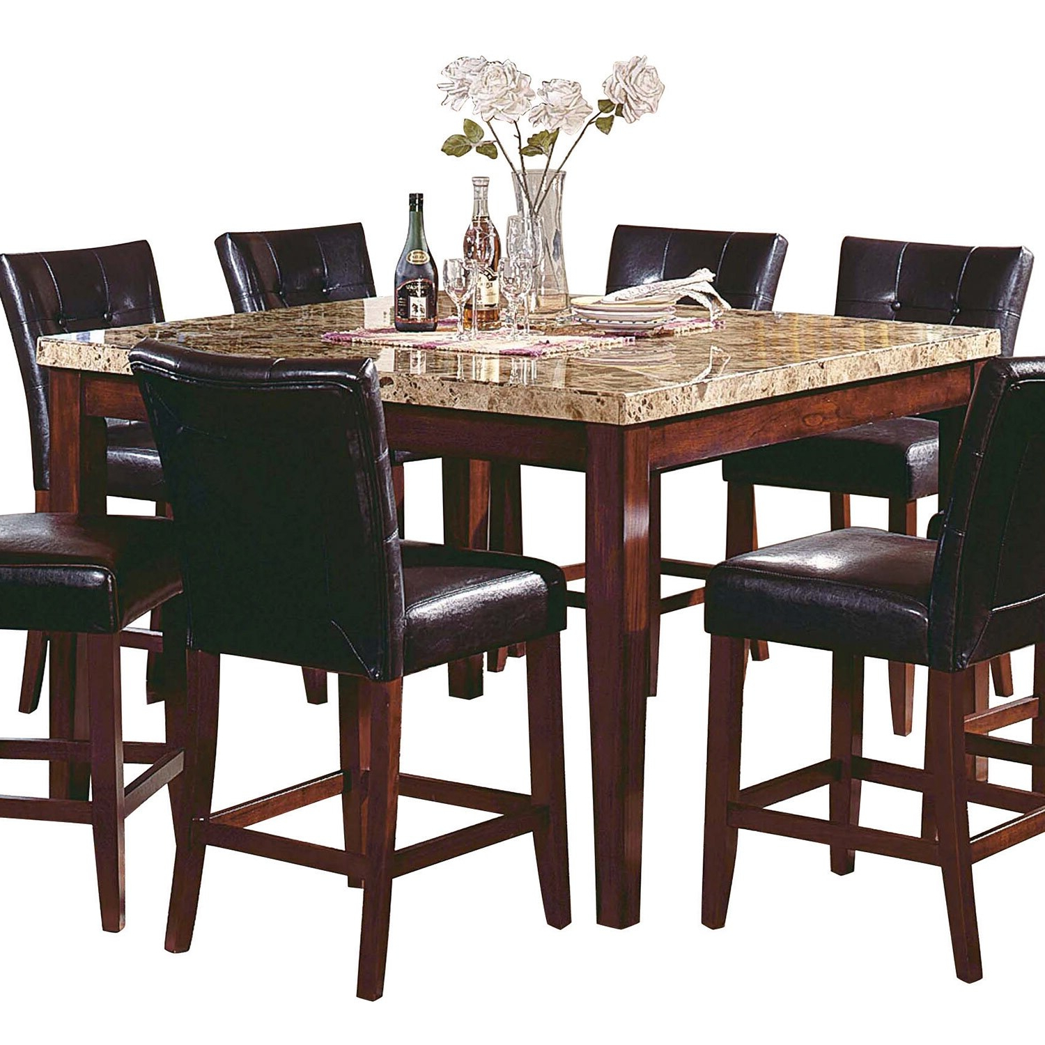 Desloge Counter Height Trestle Dining Tables Regarding Most Popular Montibello Counter Height Dining Table (View 13 of 20)
