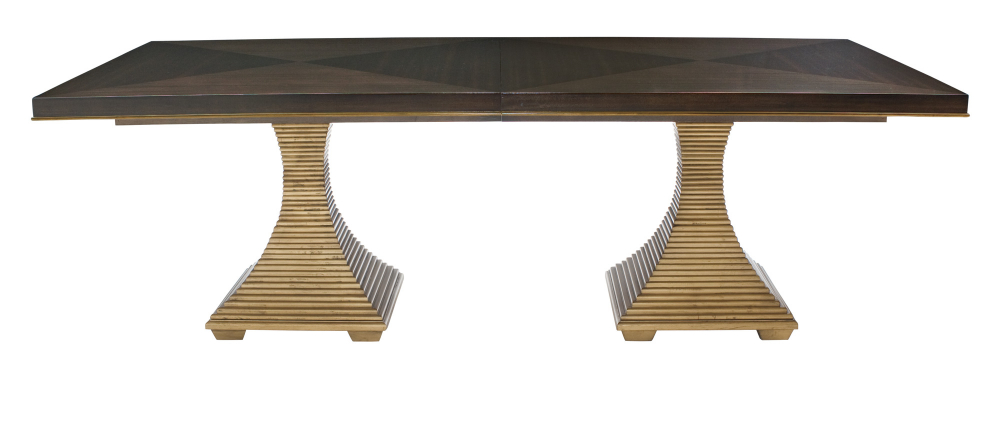 Double Pedestal Intended For Servin 43'' Pedestal Dining Tables (View 15 of 20)