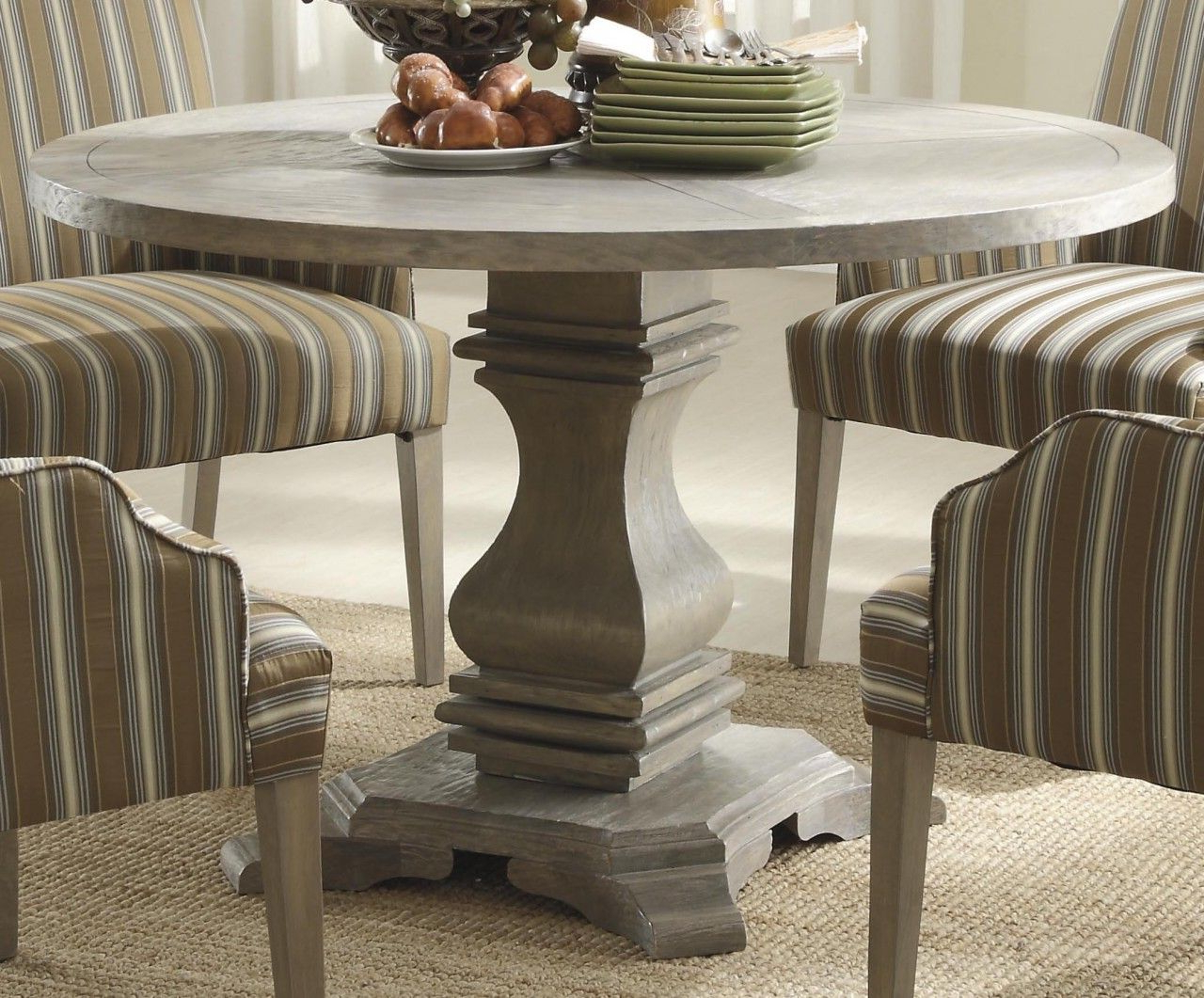 Exeter 48'' Pedestal Dining Tables Regarding Trendy Homelegance Euro Casual Dining Table In Light Brown (View 12 of 20)