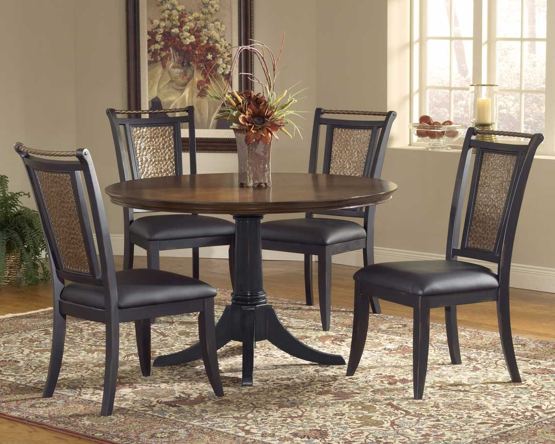 Exeter 48'' Pedestal Dining Tables Within Well Known Hillsdale Norwood 48 Inch Pedestal Dining Table Hd (View 16 of 20)