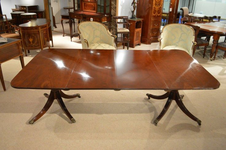 Famous Exeter 48'' Pedestal Dining Tables Within A Mahogany Regency Period Twin Pedestal Antique Dining (View 10 of 20)