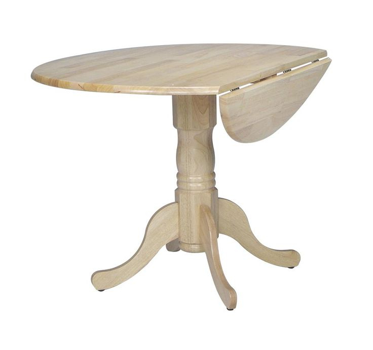 Featured Photo of Boothby Drop Leaf Rubberwood Solid Wood Pedestal Dining Tables