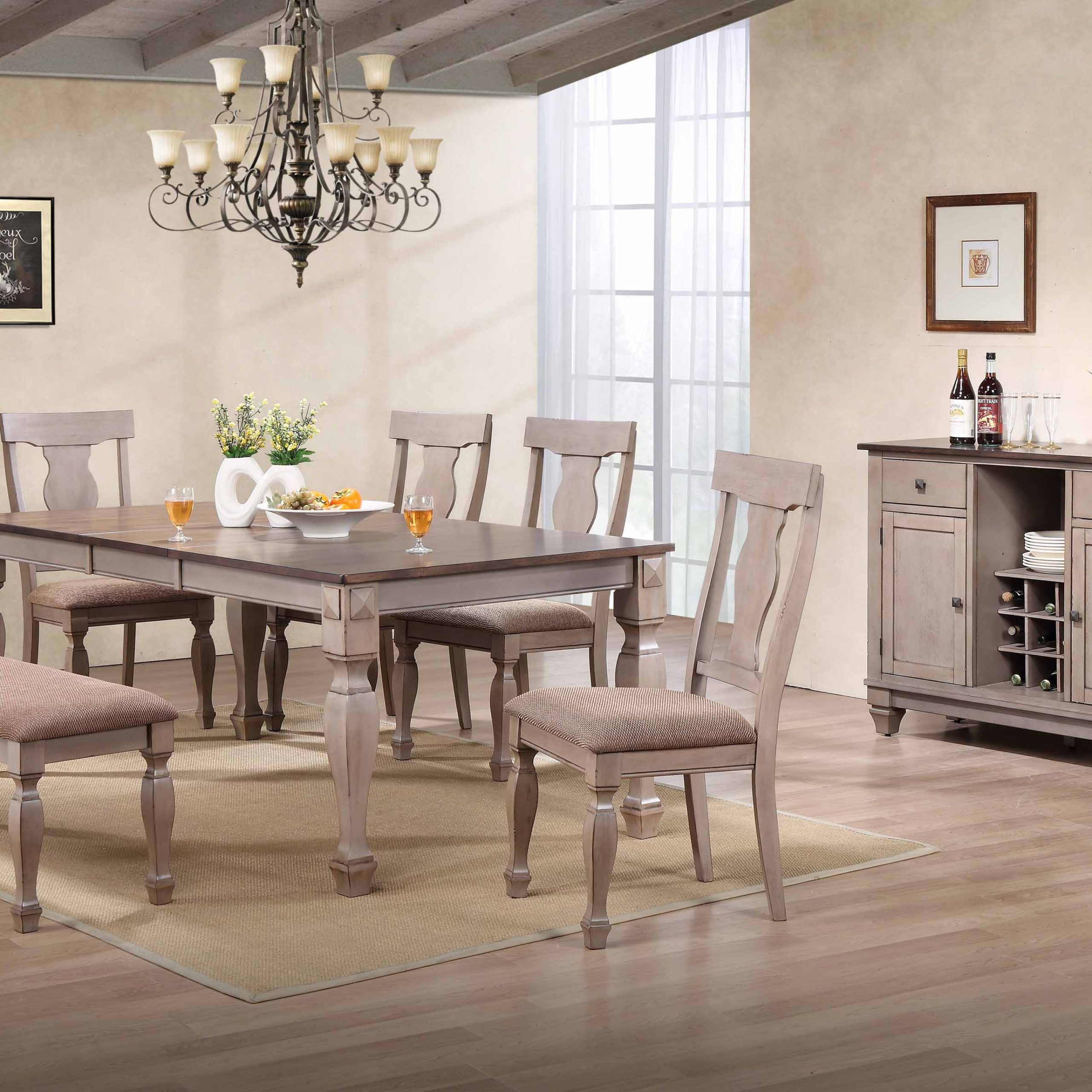 Fashionable Joanna 7 Piece Extendable Dining Set, Brown Wood With Regard To Tudor City 28'' Dining Tables (View 13 of 20)
