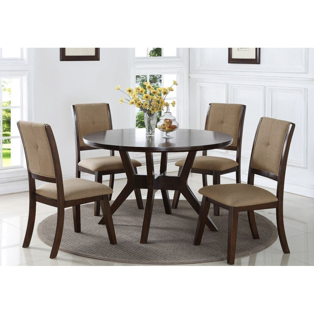 Fashionable Tudor City 28'' Dining Tables Pertaining To Park City Dining – Dining Table & 4 Dining Chairs (View 14 of 20)