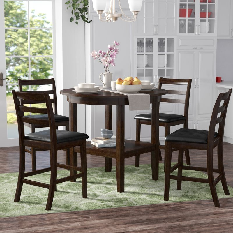 Gosselin 5 Piece Counter Height Dining Set – High Dining Inside Well Known Desloge Counter Height Trestle Dining Tables (View 14 of 20)