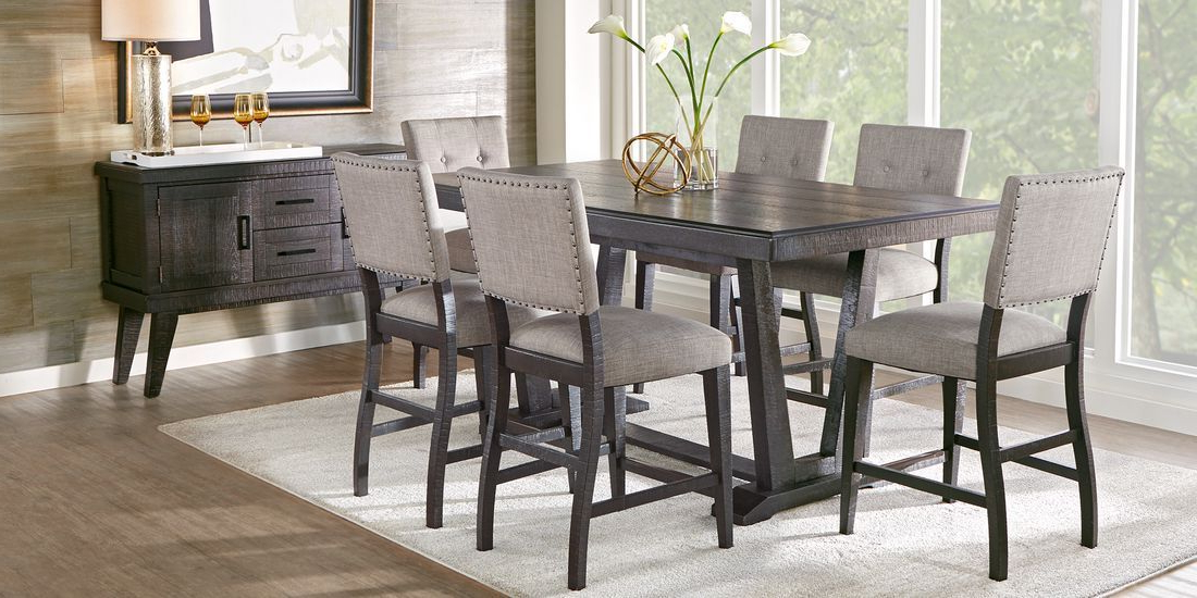 Hill Creek Black 5 Pc Counter Height Dining Room – Rooms Intended For Most Recent Dallin Bar Height Dining Tables (View 17 of 20)