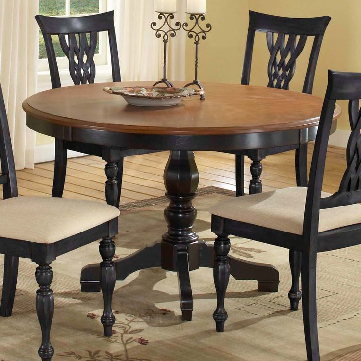 Hillsdale Embassy Round Pedestal Table With 48 Inch Within Most Up To Date Villani Pedestal Dining Tables (View 3 of 20)