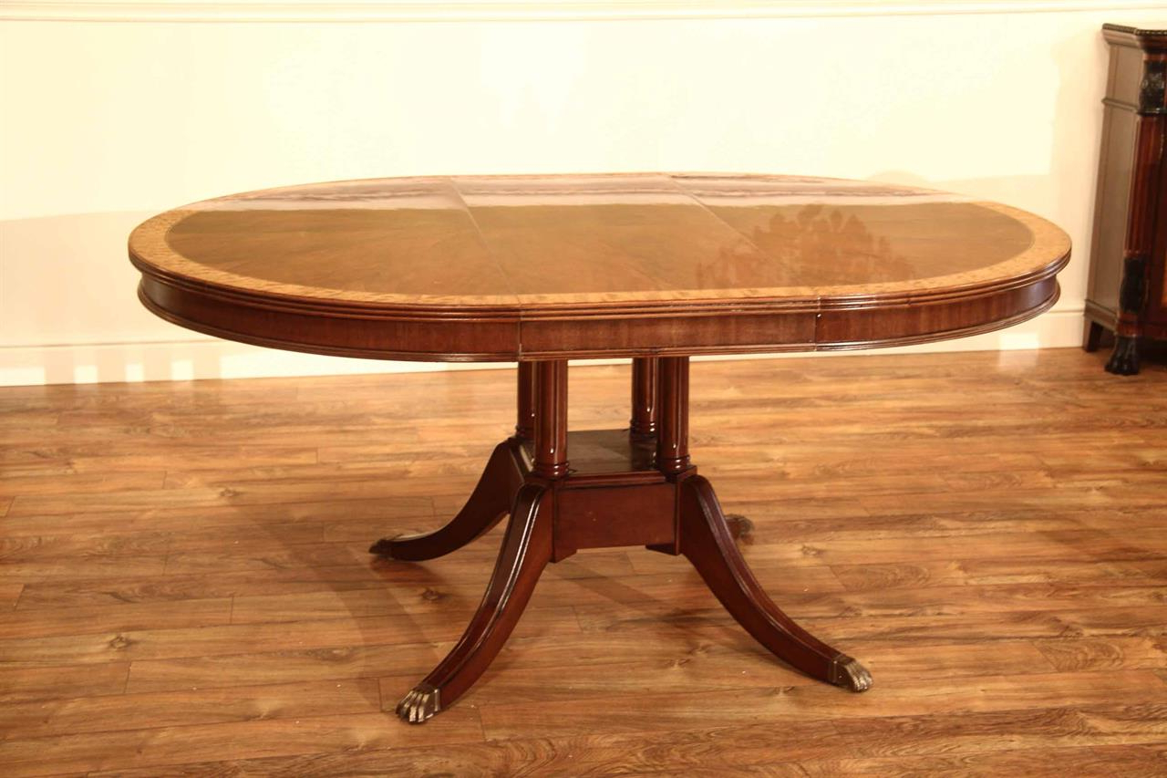 Latest Corvena 48'' Pedestal Dining Tables In Small 48 Inch Round Mahogany Pedestal Dining Table With Leaf (View 9 of 20)