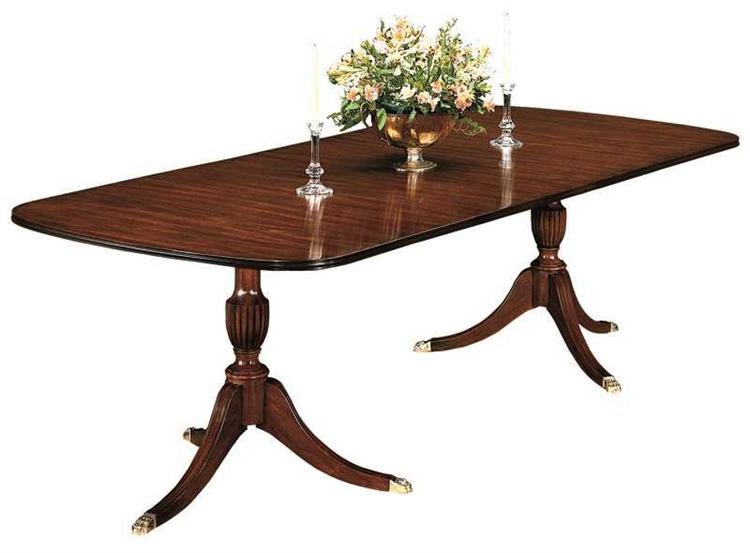 Latest Corvena 48'' Pedestal Dining Tables With Regard To Henkel Harris 68 X 48 Rectangular Double Pedestal Dining (View 10 of 20)