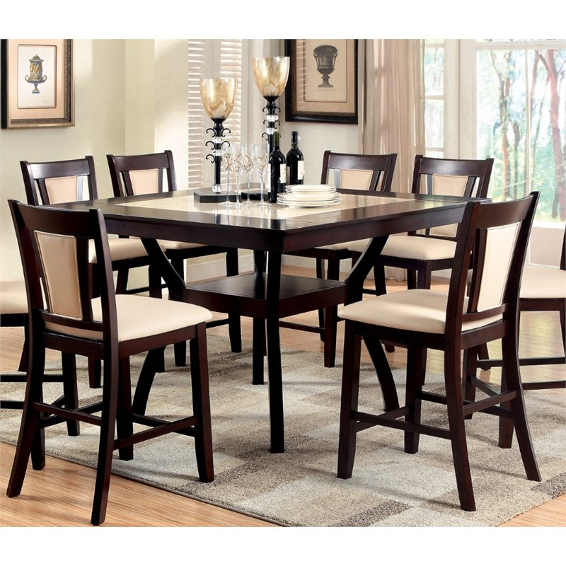 Most Current Desloge Counter Height Trestle Dining Tables In Kingfisher Lane Square Counter Height Dining Table (View 2 of 20)