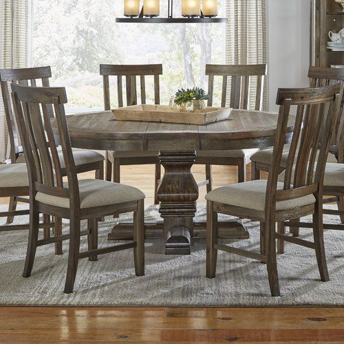 Most Popular Desloge Counter Height Trestle Dining Tables With Found It At Wayfair – Lyonsdale Oval Pedestal Dining Table (View 6 of 20)