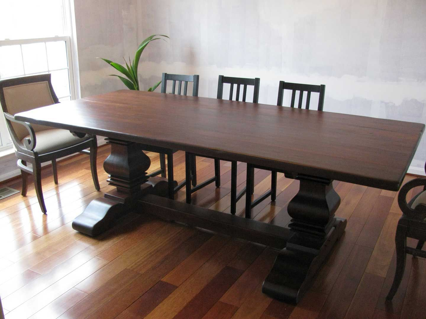 Most Popular Rustic Cherry Double Pedestal Table Http://www (View 16 of 20)