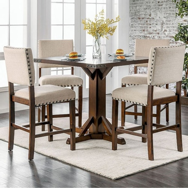 Most Popular Shop Glenbrook Brown Cherry Counter Height Dining Table Within Dallin Bar Height Dining Tables (View 9 of 20)